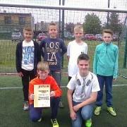 Zawody w mini piłkę nożną chłopców