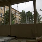 Sala gimnastyczna pod dachem